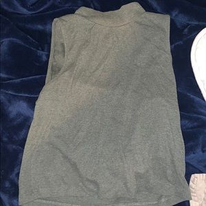 Army Green Turtle Neck Tank